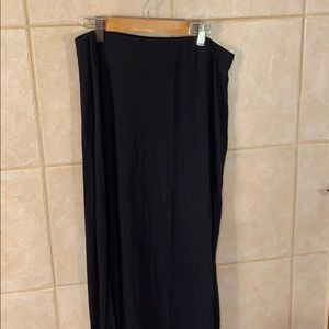 Black maxi skirt with two slits